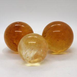 Yellow Optical Calcite Sphere...-New